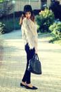 Beige-zara-coat-black-forever-21-pants-black-sam-edelman-flats