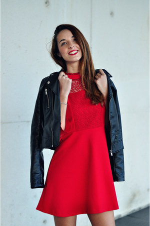 red dress Zara dress