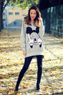 Black-stradivarius-leggings-silver-xxl-mickey-choiescom-sweatshirt