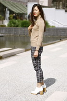 white Cheap Monday boots - plaid pants