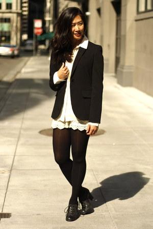 black calvin klein blazer - eggshell lace GoodNight Macaroon shorts