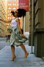 Turquoise-blue-h-m-skirt-nude-coach-bag-bronze-cole-haan-heels