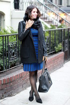 banana republic dress - black banana republic scarf - banana republic gloves