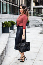 Zara sweater - Zara bag - Zara skirt - Valentino heels