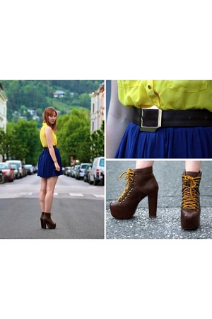 Jeffrey Campbell boots - H&M dress - Pimkie skirt - vintage belt