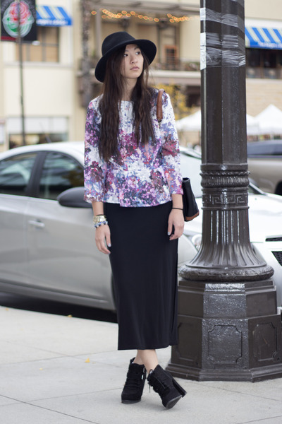 peplum H&M blouse - maxi Gap skirt - Dolce Vita heels