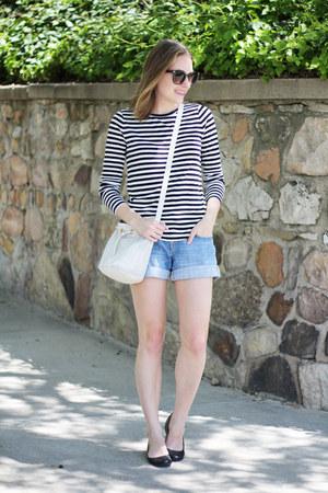 black striped Loft shirt - white & other stories bag