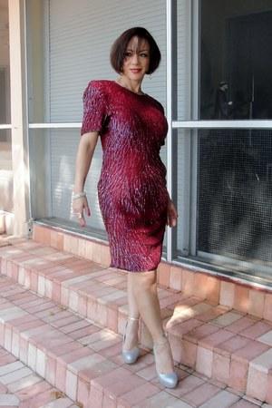 vintage dress - Aldo heels