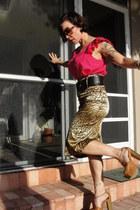 brown south carolina vintage sunglasses - tawny macys Jessica Simpson heels - br