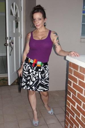 Rampage shoes - vintage bag - Forever21 t-shirt - Forever21 skirt - vintage belt