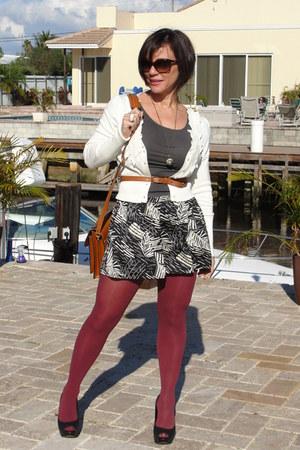 crimson H&M Aldo Shoes tights - black vintage shorts - bronze thrifted vintage n