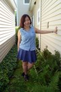 Sky-blue-chambray-sonoma-top-blue-polka-dot-aeropostale-skirt