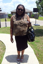 leopard print Old Navy blouse