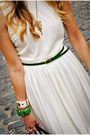 White-vintage-dress-chartreuse-asos-belt