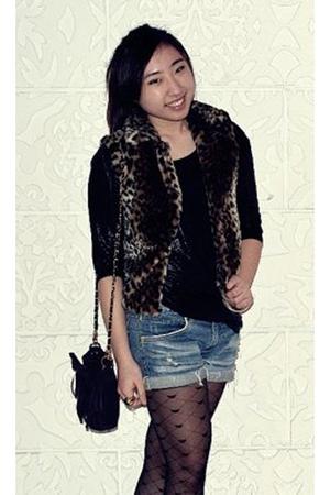 dress - coutureNsparkles vest - vintage shorts - tights - cotton on accessories