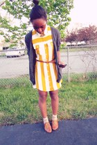 gold shirt dress - off white dotted socks - collar necklace