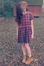 Tan-forever-21-boots-ruby-red-plaid-baby-doll-forever-21-dress