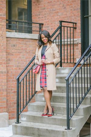H&M coat - dress - Ivanka Trump bag