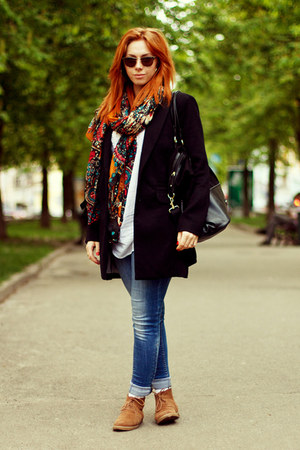 Accessorize scarf - Stradivarius blazer