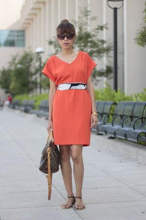 Jason Wu by Target scarf - MNG dress - Louis Vuitton bag - Dolce Vita sandals