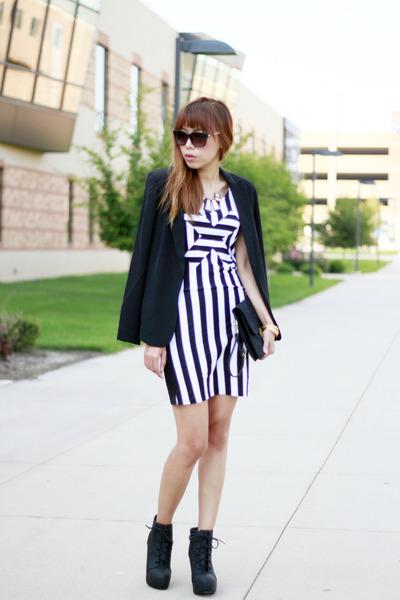 H&M boots - H&M dress - H&M blazer - Jason Wu for Target bag