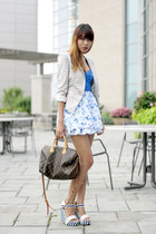 bcbg max azria blazer - abercrombie and fitch dress - Louis Vuitton bag