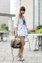 bcbg max azria blazer - abercrombie and fitch dress - Louis Vuitton bag