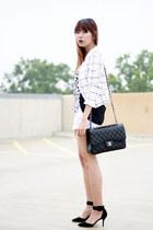 H&M top - Zara shoes - H&M blazer - Chanel bag