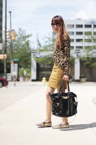 Michael Kors bag - Macys top - bcbg max azria skirt