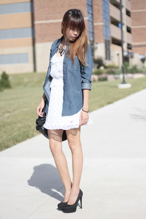 hollister dress - abercrombie and fitch shirt - Michael Kors bag