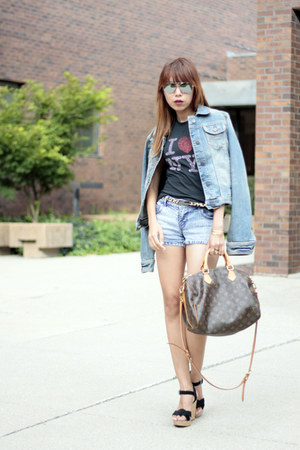 Louis Vuitton bag - abercrombie and fitch jacket - Macys shorts