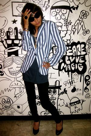 Zara blazer - Mango pants - Steve Madden shirt