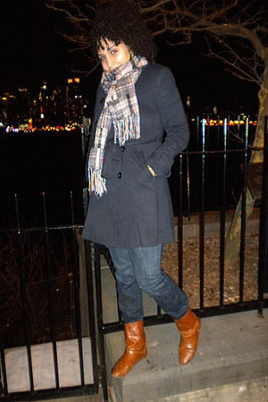 brown Forever 21 boots - blue Charlotte Russe jeans - blue Forever 21 jacket - g