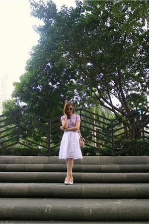 light pink Michael Kors bag - sky blue Jellybean sunglasses