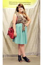 aquamarine American Apparel skirt - hot pink coach bag - black Target heels