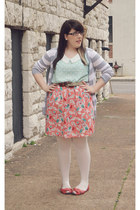coral worn as skirt Target dress - light blue cat print Forever21 shirt