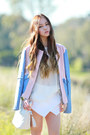 White-skort-skirt-bomber-jacket-quilted-choies-bag