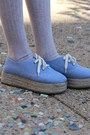 Sky-blue-monki-shoes-chartreuse-hat-dark-brown-bonia-bag-beige-asos-socks-