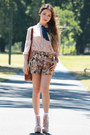 Jeffrey-campbell-boots-floral-romwe-shorts-lace-romwe-top