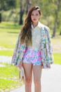 Flower-hazene-blazer-velvet-sheinside-shirt