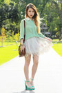 Brown-vintage-bag-off-white-romwe-skirt-aquamarine-romwe-blouse