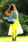 Polka-dots-scarf-teal-prada-bag-tiffany-co-bracelet-turquoise-blue-top-