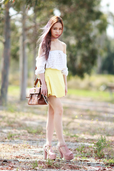 lookbookstore top - skater yellow junk skirt