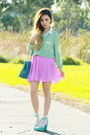 Turquoise-blue-miu-miu-bag-aquamarine-romwe-blouse