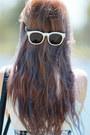 White-wish-dress-black-white-oasap-bag-white-gentle-monster-sunglasses