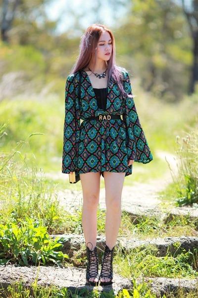 Koogal dress - stone alice and leon necklace