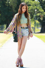 Light-pink-jeffrey-campbell-boots-light-blue-denim-minkpink-shorts