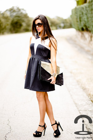 the quiet riot dress - asos bag - Prada sunglasses - the quiet riot bracelet