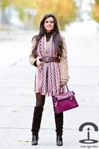 Missoni scarf - versace boots - Zara jacket