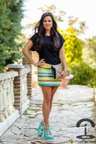 DIY Crmenes de la Moda skirt - Zara sandals